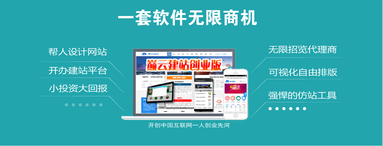 自主开发三站合一网站制作系统